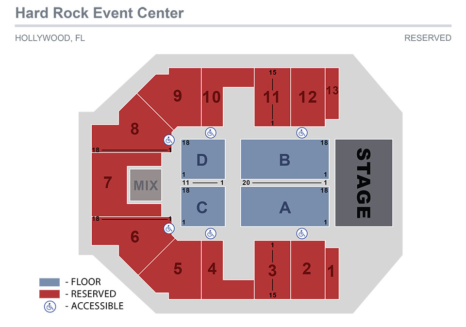 hard rock event center seating chart
